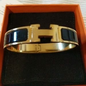 Hermes Clic Clac GM Black and Gold